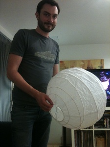 Ikea Lampshade & Me - For Sense of Scale